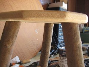 Quick And Dirty Rustic Furniture Stool Amy Qian