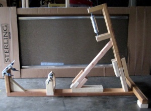 completed jig with all the lugs except the one that clamps the seat post