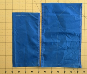 fold over and sew what will become the top edges of all the layers
