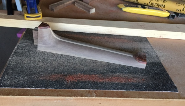 sanding the fretboard gluing surface flat