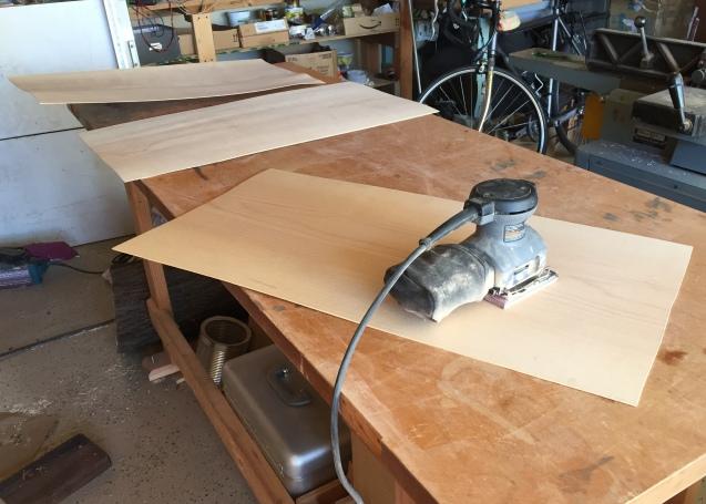 sandingt the veneer
